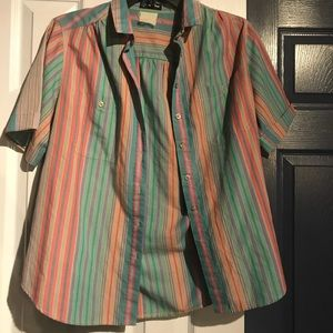 Button down striped Short Sleeve